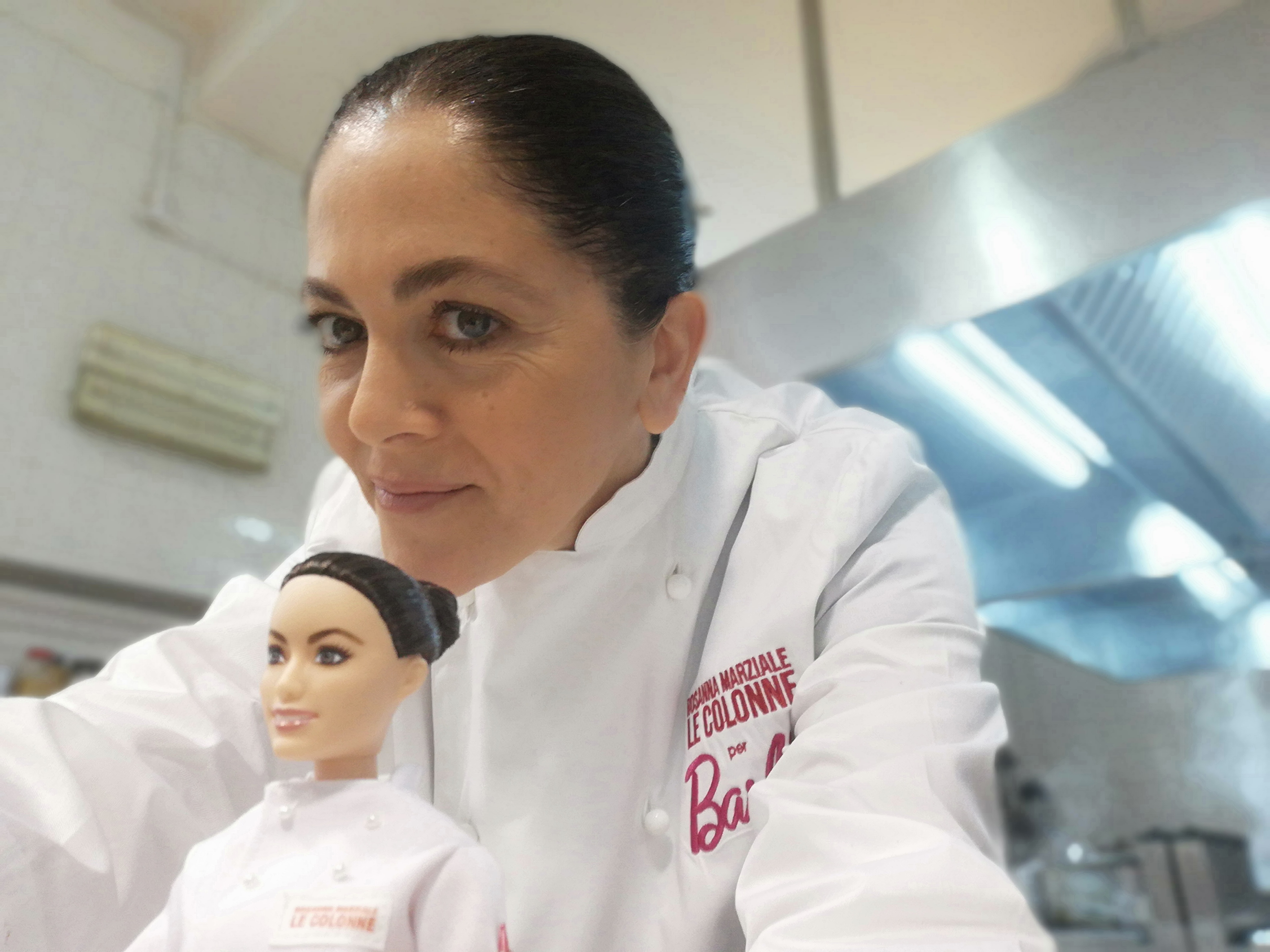 Rosanna Marziale con Barbie Chef